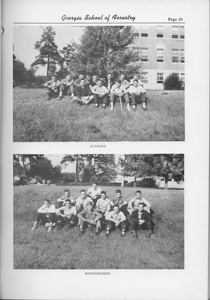 The Cypress Knee, 1954, Seniors, Junior Class, Sophomore Class, pg. 19