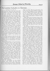 "The Cypress Knee, 1954, ""The Lumber Industry in Georgia..."" (continued), pg. 49"