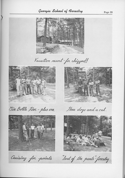 The Cypress Knee, 1954, Camp Photo Collage, pg. 23
