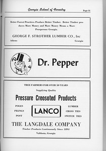 The Cypress Knee, 1954, George F. Strother Lumber Co., Dr. Pepper, The Langdale Company, pg. 51