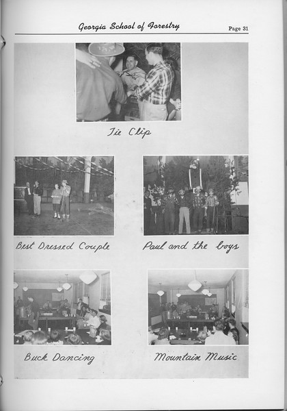 The Cypress Knee, 1954, Lumberjack and Harvest Ball Collage, pg. 31