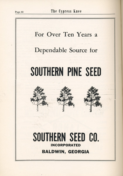 The Cypress Knee, 1955, Southern Seed Co., pg. 60