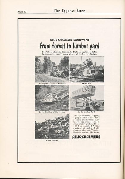 The Cypress Knee, 1955, Allis-Chalmers, pg. 50