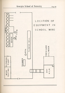 The Cypress Knee, 1955, Location of Equipment in School Wing, pg. 29