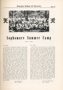 "The Cypress Knee, 1955, ""Sophomore Summer Camp"", Gerry J. Allen, pg. 19"