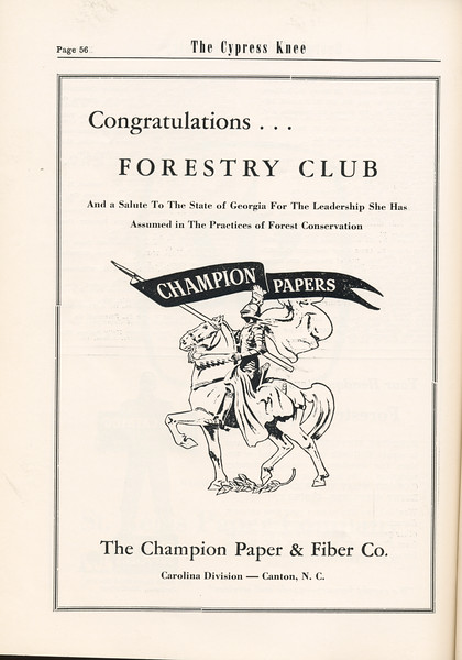 The Cypress Knee, 1955, The Champion Paper and Fiber Co., pg. 56