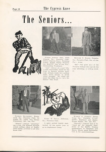The Cypress Knee, 1955, Seniors, Curtis Ashley Abel, Richard C. Baker, Patrick Blackerby, Harry W. Bryan, Warren G. Garrett, pg. 12