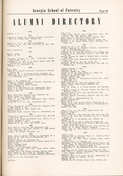 The Cypress Knee, 1955, Alumni Directory, pg. 43