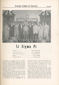 The Cypress Knee, 1955, Xi Sigma Pi, pg. 23