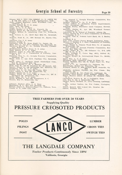 The Cypress Knee, 1955, Alumni Directory (continued), The Langdale Company, pg. 59