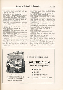 The Cypress Knee, 1955, Alumni Directory (continued), Southern Coating and Chemical Company, pg. 51