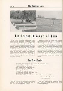 "The Cypress Knee, 1955, ""Littleleaf Disease of Pine"", ""The Tree Planter"", Stanley Foss Bartlett, pg. 36"