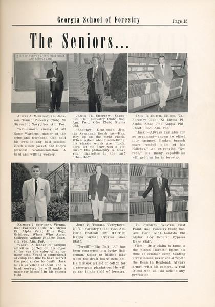 The Cypress Knee, 1955, Albert A. Morrison, James H. Shoptaw, Jack B. Smith, Emmett J. Stephens, John E. Terrell, R. Fleming Weaver, pg. 15