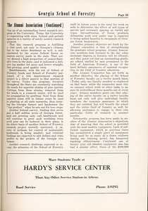 """The Cypress Knee, 1955, """"The Alumni Association"""" (continued), Hardy's Service Center, pg. 33"""