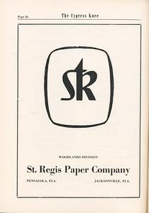 The Cypress Knee, 1955, St. Regis Paper Company, pg. 54