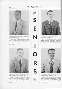 The Cypress Knee, 1956, Seniors, Martin R. MacAlexander, Richard T. Mills, David G. Mohla, Francis J. Morris, pg. 20
