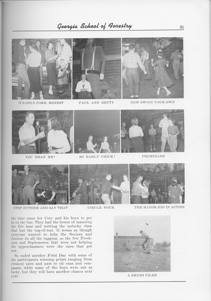 The Cypress Knee, 1956, Lumberjack Ball Photos, pg. 31