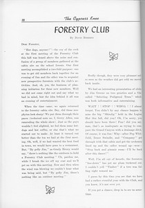 The Cypress Knee, 1956, Forestry Club, Davis Roberts, pg. 32