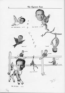 The Cypress Knee, 1956, Staff, pg. 8