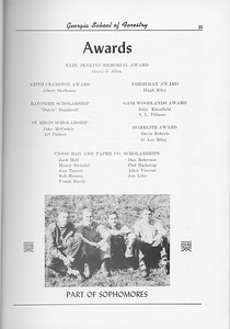 The Cypress Knee, 1956, Awards and Scholarships, Part of Sophomore Class, pg. 25