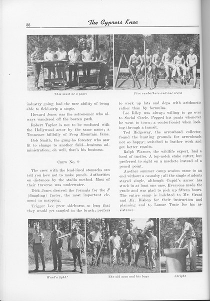 The Cypress Knee, 1956, Sophomore Camp-1955 (continued), pg. 38