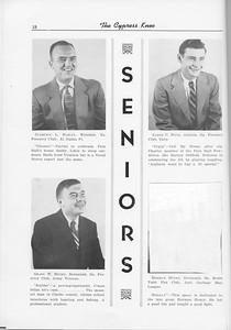 The Cypress Knee, 1956, Seniors, Clarence L. Harley, James C. Hays, Grady W. Henry, Herman Henry, pg. 18