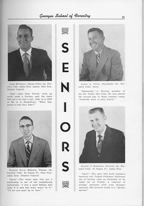 The Cypress Knee, 1956, Seniors, Jabes McCorkle, James A. Potts, Charles Davis Roberts, Daniel P. Roberson, pg. 21