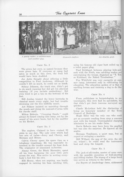 The Cypress Knee, 1956, Somphomore Camp- 1955 (continued), pg. 36