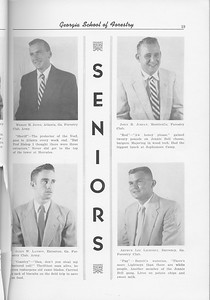 The Cypress Knee, 1956, Seniors, Wesley M Jones, John R. Jordan, Allen W. Layson, Arthur Lee Lightsey, pg. 19