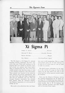 The Cypress Knee, 1956, Xi Sigma Pi, pg. 28