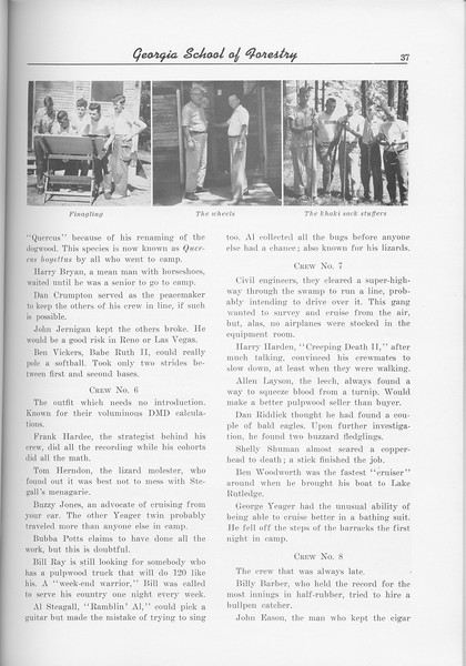 The Cypress Knee, 1956, Sophomore Camp- 1955 (continued), pg. 37