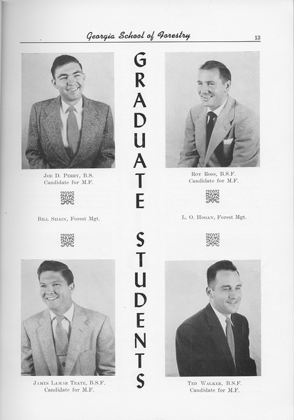 The Cypress Knee, 1956, Graduate Students, Joe D. Perry, Roy Ross, James Lamar Reate, Ted Walker, pg. 13