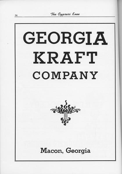 The Cypress Knee, 1956, Georgia Kraft Company, pg. 54
