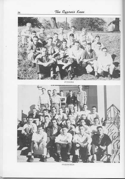 The Cypress Knee, 1956, Junior Class, Freshman Class, pg. 24