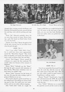 """The Cypress Knee, 1957, """"Sophomore Camp- Budding Foresters Take Root"""", pg. 56"""
