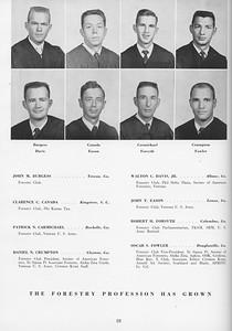 The Cypress Knee, 1957, Seniors, John M. Burgess, Clarence C. Canada, Patrick N. Carmichael, Daniel N. Crumpton, Walton C. Davis Jr., John T. Eason, Robert H. Forsyth, Oscar S. Fowler, pg. 28