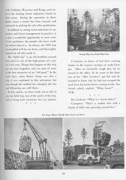 "The Cypress Knee, 1957, ""Utilization Field Trip"", pg. 63"