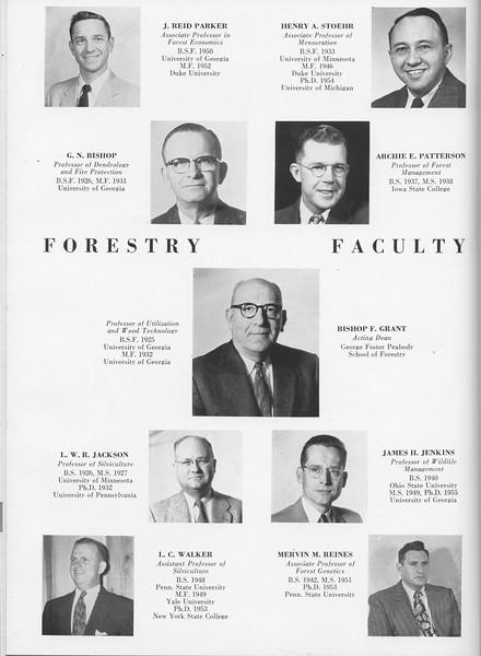 The Cypress Knee, 1957, Faculty, J. Reid Parker, Henry A. Stoehr, G. N. Bishop, Archie E. Patterson, Bishop F. Grant, L. W. R. Jackson, James H. Jenkins, L. C. Walker, Mervin M. Reines, pg. 20