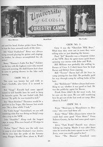 """The Cypress Knee, 1957, """"Sophomore Camp- Budding Foresters Take Root"""", pg. 55"""