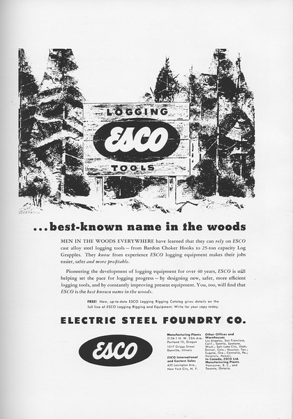 The Cypress Knee, 1957, Electric Steel Foundry Co., pg. 61