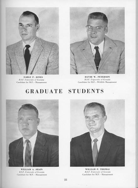 The Cypress Knee, 1957, Graduate Students, Earle P. Jones, David W. Peterson, William A. Shain, William P. Thomas, pg. 25