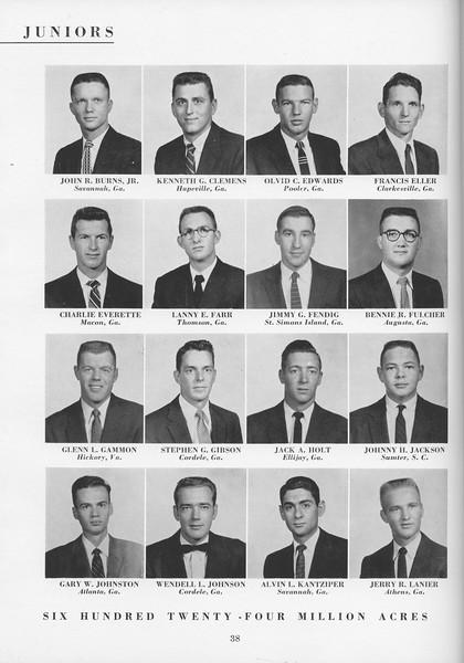 The Cypress Knee, 1957, Junior Class, John R. Burns Jr., Kenneth G. Clemens, Olvid C. Edwards, Francis Eller, Charlie Everette, Lanny E. Farr, Jimmy G. Fending, Bennie R. Fulcher, Glenn L. Gammon, Stephen G. Gibson, Jack A. Holt, Johnny H. Jackson, Gary W. Johnston, Wendell L. Johnson, Alvin L. Kantziper, Jerry R. Lanier, pg. 38