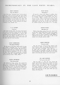 The Cypress Knee, 1957, Seniors, About the Seniors, pg. 29