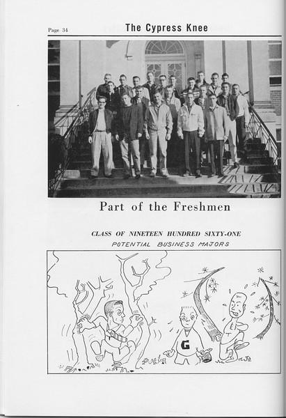 The Cypress Knee, 1958, Freshman Class, pg. 34