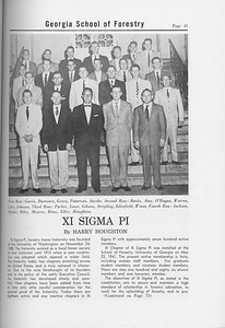 The Cypress Knee, 1958, Xi Sigma, Pi, pg. 41