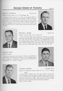 The Cypress Knee, 1958, Seniors, Robert M. McMurray, William E. Moore, William T. Moss, Walter H. Moyers, pg. 21