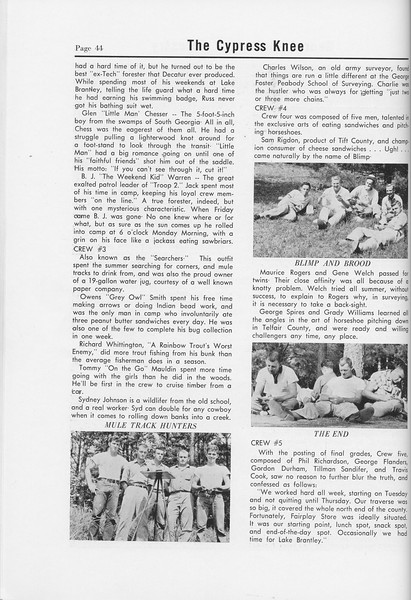 The Cypress Knee, 1958, Sophomore Camp, pg. 44