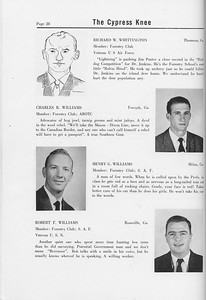 The Cypress Knee, 1958, Seniors, Richard W. Whittington, Charles R. Williams, Henry G. Williams, Robert F. Williams, pg. 28