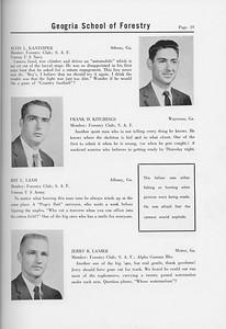 The Cypress Knee, 1958, Seniors, Alvin L. Kantziper, Frank D. Kitchings, Roy C. Land, Jerry R. Lanier, pg. 19