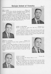 The Cypress Knee, 1958, Seniors, Jack A. Holt, Harry A. Houghton, Johnny H. Jackson, Julius C. James, pg. 17